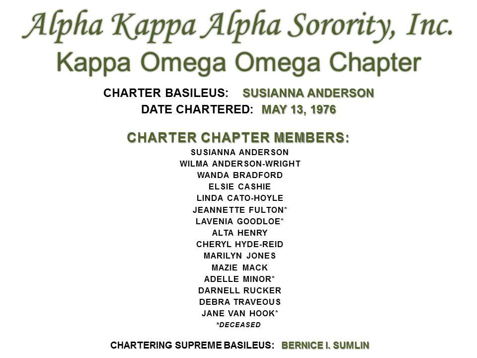 Charter members of KOO Chapter